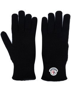 Moncler - Logo Plaque Gloves - Men - Virgin Wool - M