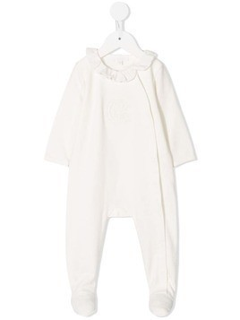 Chloé Kids embroidered logo pyjama - White