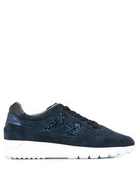 Hogan glitter-embellished sneakers - Black