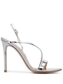 Gianvito Rossi metallic strap sandals - Silver
