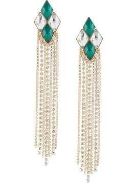 Anton Heunis crystal embellished earrings - Green