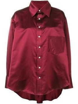 Matthew Adams Dolan oversized draped shirt - Red