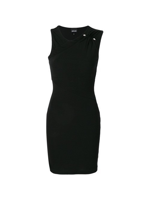 Just Cavalli ruched neck dress - Black