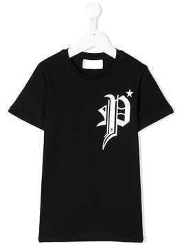 Philipp Plein Junior gothic logo tee - Black