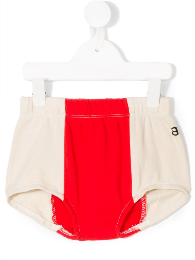 Bandy Button color block shorts - Neutrals