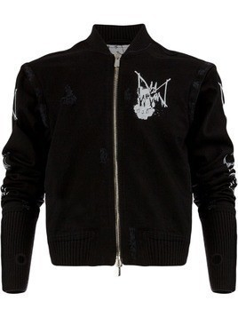 Mjb graffiti print jacket - Black