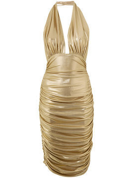Norma Kamali midi halter dress - Metallic