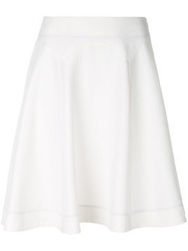 Ps By Paul Smith - textured A-line skirt - Damen - Cotton/Polyester/Spandex/Elastane/Viscose - 40 - White