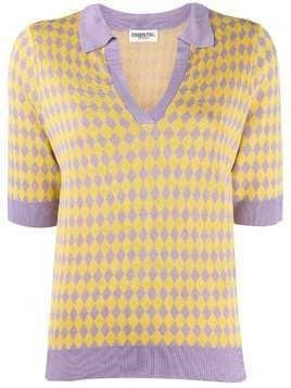 Essentiel Antwerp diamond pattern polo shirt - Yellow