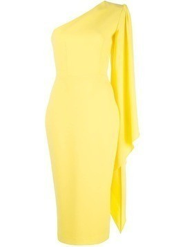 Alex Perry Finley one shoulder dress - Yellow