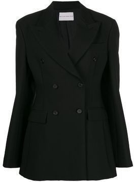 Matthew Adams Dolan fitted double breasted coat - Black