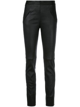 Maison Ullens textured skinny trousers - Black