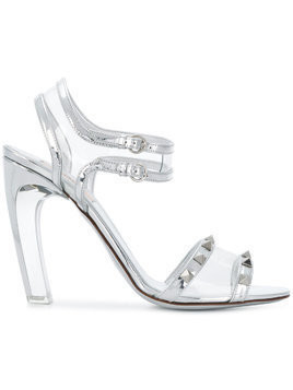 Valentino Moonwalk Rockstud sandals - Metallic