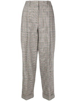 3.1 Phillip Lim checked high-waist trousers - Black