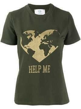 Alberta Ferretti Help Me embroidered T-shirt - Green