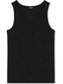 Balenciaga sleeveless jersey tank top - Black