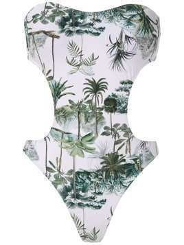 Lygia & Nanny Taylor printed swimsuit - White