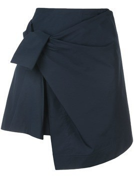 Derek Lam 10 Crosby Wrap Mini Skirt With Knot - Blue