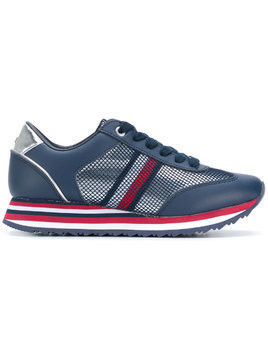 Tommy Hilfiger Flag mesh sneakers - Blue