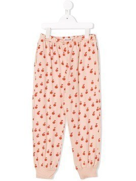 Bobo Choses fruit print trousers - Neutrals