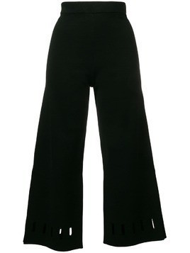Dagmar cut-detail cropped trousers - Black