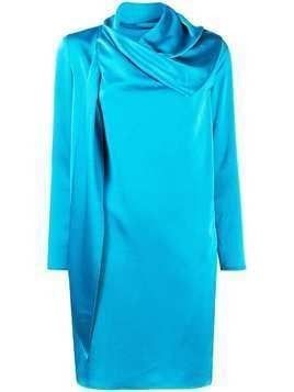Gianluca Capannolo scarf neck shift dress - Blue
