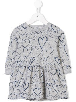 Stella Mccartney Kids heart print dress - Grey