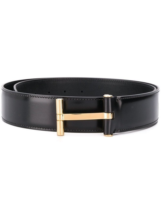 Tom Ford T-buckle leather belt - Black