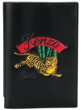 Kenzo embroidered passport holder - Black