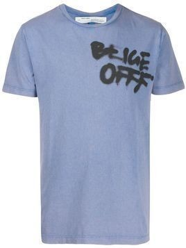 Off-White graffiti OFFF print T-shirt - Blue