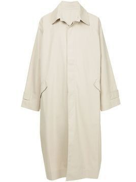 Hed Mayner long single breasted coat - Neutrals