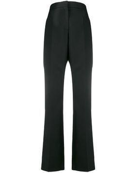 Rochas stripe detail tailored trousers - Black