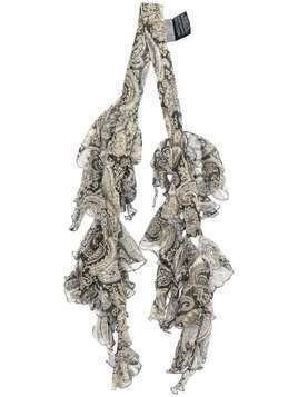 Etro ruffled silk scarf - Grey
