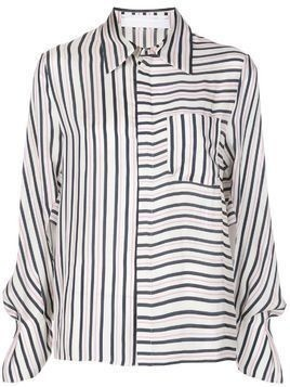 Roland Mouret contrast striped long sleeve shirt - PINK