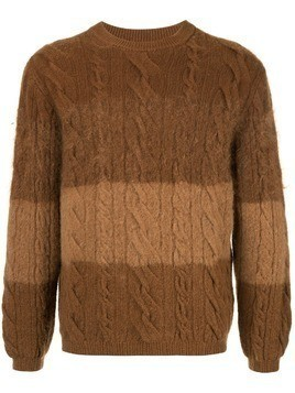 Coohem cable knit jumper - Brown