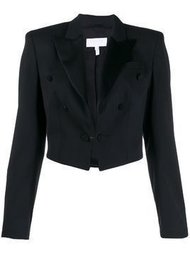 Escada Sport cropped button detail blazer - Black