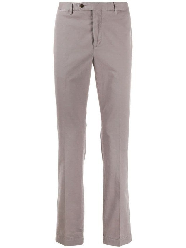 Hackett straight-leg chino trousers - Grey