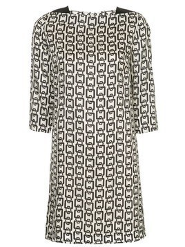 Milly chain print dress - Neutrals