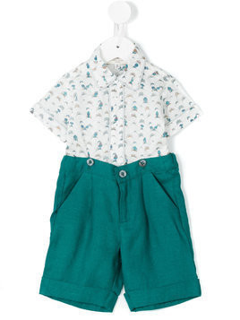 Cashmirino Shirt and bermuda short set - Blue