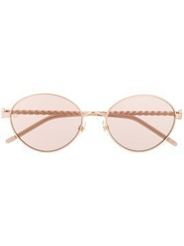 Elie Saab oval sunglasses - Gold