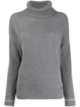 Fay fine knit roll neck jumper - Grey