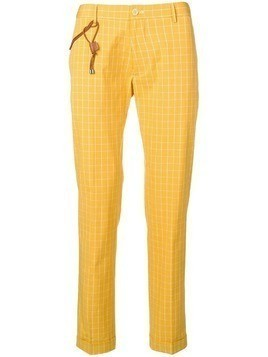 Berwich check print trousers - Yellow