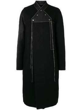 Rick Owens double-breasted neckline coat - Black