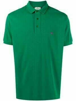 Etro embroidered-logo cotto polo shirt - Green