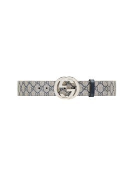 Gucci GG Supreme belt with G buckle - Blue