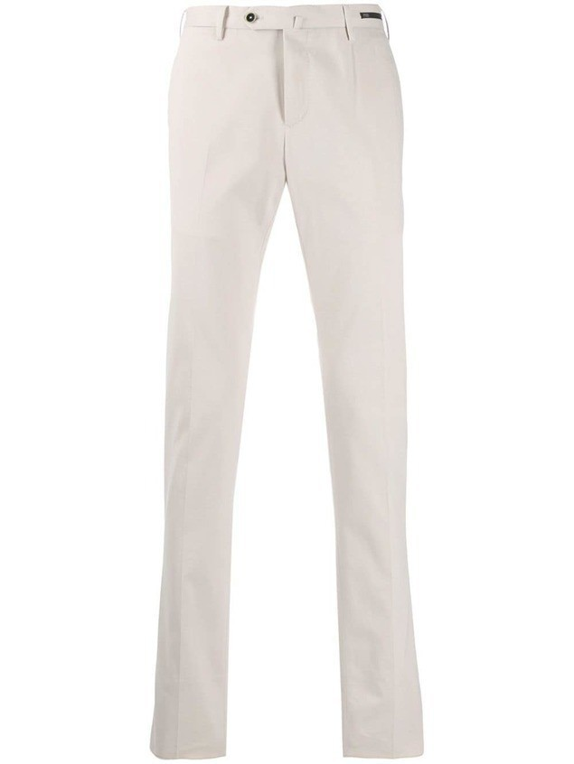 Pt01 slim-fit chino trousers - White