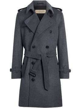 Burberry Wool Cashmere Trench Coat - Grey