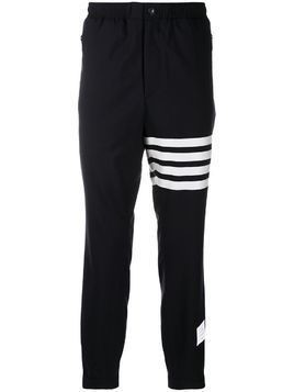 Thom Browne plain weave suiting track pants - Blue
