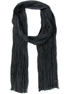 Saint Laurent polka dot scarf - Black