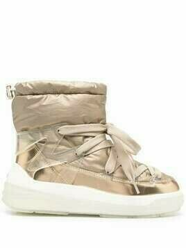 Moncler lace-up ankle boots - GOLD